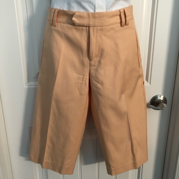 Catherine Malandrino Pants - Long shorts w/lace cut out details